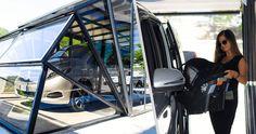 you can park your #bigvan #bigcar #van thanks to #gazebox L #largesize more info at www.gazebox.it Modern Gazebo, Big Van, Portable Garage, Carport Garage, Garage Storage, Caravan, Camper, Park, Cars