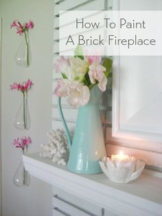 Tips and steps for painting a brick fireplace