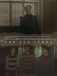 Mcgonagall, Hermione, Ron et Harry