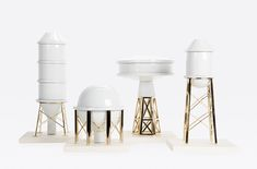 'Industry Porcelain' vases collection by Gentle Giants