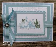 Winter Scene by jimlynn - Cards and Paper Crafts at Splitcoaststampers