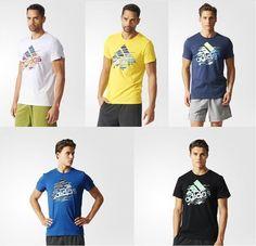 Adidas Training Men T-shirt Dispatch Logo Tee White Yellow Mid.Grey 9f4df7d1ca13f