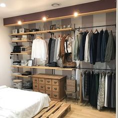 Awesome 44 Creative Open Closet Design Ideas For Your Bedroom That You Need To Have Bedroom Closet Design, Wardrobe Design, Closet Designs, Closet Rooms, Closet Wall, Open Wardrobe, Diy Wardrobe, Bedroom Orange, Diy Apartment Decor