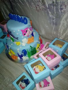 baby shark cake by peek and shoppe