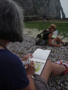 stages carnet de voyage dessin aquarellé  et, ou, gouache pour débutants et confirmés en France BRL: pas de secret...