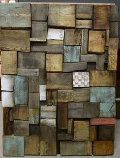 wall art wooden pallet board woven with fabric - Google Search