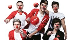One Direction pick their noses for Red nose day 2013!