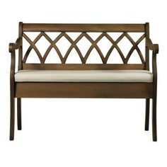 Windowpane Heritage Oak with Natural Wood Storage Bench. Home Depot