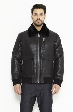 Shearling coat for men