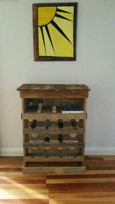 new wine rack again made from pallets