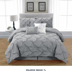 11 Piece Queen Jolie Charcoal Bed in a Bag Set Charcoal