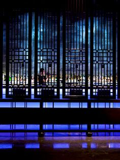 Wooden Chinese Screens at Hakkasan