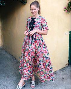 Ganni street style | Trine Kjær | Seneca Silk Maxi Dress