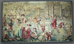 Winter: Skating Scene (From Set of Four Seasons), late 1600s - early 1700s manufacturer Gobelins (French).