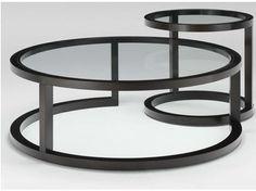 Tavolino modulare rotondo in legno OMEGA | Tavolino - HUGUES CHEVALIER