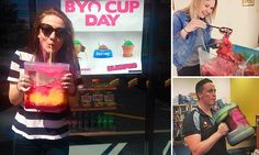 7-Eleven BYO Cup day sees customers load up on giant Slurpees