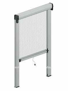 Mosquitero con abrojo para ventanas y puertas for Invisible fly screen doors