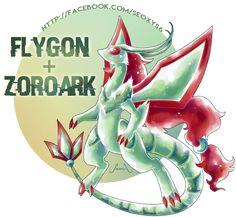 Zoroark X Flygon [Closed] by on DeviantArt Pokemon Mix, Pokemon Fusion Art, Mega Pokemon, Pokemon Comics, Pokemon Stuff, Cool Pokemon Wallpapers, Cute Pokemon Wallpaper, Pokemon Original, Pokemon Eeveelutions
