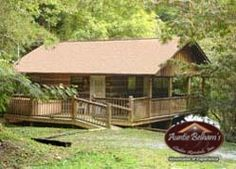 Baby Bear is cute and cozy, great for a couple or small family who want to have the convenience of quick access to Gatlinburg and Pigeon Forge. This unique cabin is fully wheelchair accessible. Parking is level with plenty of room for a van or two cars. A ramp serves as the access to the home from the parking area. The doorways are wide and the shower is complete with a pull-down seat and ADA approved rails.  Baby Bear is economically priced, cozy and convenient.