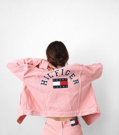 Pink denim by Tommy Hilfiger Pink Fashion, Fashion Outfits, Womens Fashion, Pink Outfits, Summer Outfits, Tommy Shop, Look Rose, Hilfiger Denim, Mode Inspiration