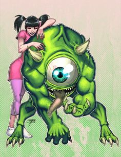 cartoon characters grown up monsters inc