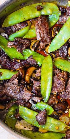 Asian Recipes, Beef Recipes, Cooking Recipes, Healthy Recipes, Easy Recipes, Chicken Recipes, Beef With Mushroom, Chile Pasilla, Gourmet
