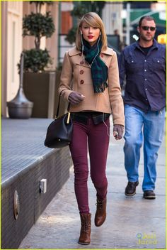 taylor swift plaid wind shopping 15