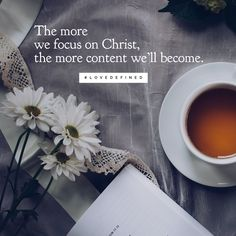 """The more we focus on Christ, the more content we'll become. Being single doesn't have to be a season to drudge through - it can actually be a season to thrive in. To learn more, grab a copy of Love Defined and check out chapter 9 called """"Five Strategies for Thriving as a Single Girl."""""""