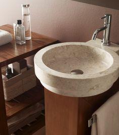 #TheBathCollection #Washbasin #STONE ICONO: El círculo es el denominador común de esta colección cuyo plato de ducha dispone de una práctica plataforma extraíble.