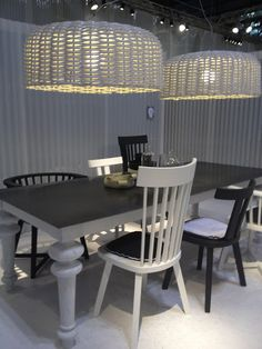 basket lighting - I love them painted white to match the decor.