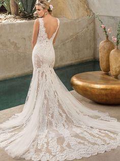 ca0134cbb1c Casablanca Bridal Style 2306 Savannah Wedding Dress A stunningly textured  delicate lace is overlaid on the stretch chiffon of Style Savannah