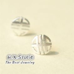 Sterling Silver Blessing Earring, 925 Silver Ear Studs, Teenage, Valentine, Bridemaid, Bridal, Wedding