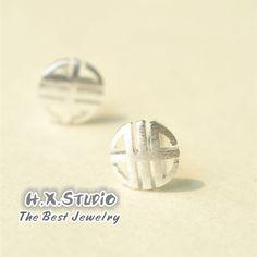Sterling Silver Blessing Earring, 925 Silver Ear Studs, Teenage, Valentine, Bridemaid, Bridal, Wedding