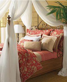 Red & beige Ralph Lauren Bedding