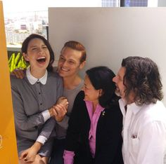 NEW pics of Caitriona Balfe, Sam Heughan, Ron D. Moore and Diana Gabaldon on Day 2 of SDCC | Outlander Online
