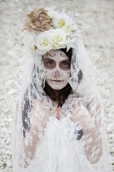 A Day of the Dead Shoot for Madeleine Bride