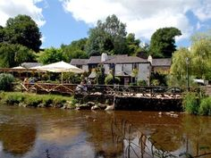 The waterman's arms pub Ashprington, near Totnes, Devon. lovely if you have children who like to wade in their wellies in the shallow stream