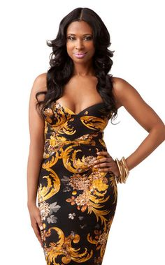 I want my hair like this, oh and that dress is killer! Jennifer Williams, Basketball Wives.