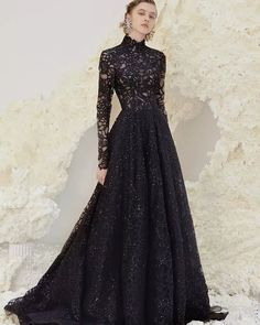 24 Gothic Wedding Dresses: Challenging Traditions ❤ gothic wedding dresses a line high neck with long sleeves lace beauti comme toi #weddingforward #wedding #bride #weddingoutfit #bridaloutfit #weddinggown