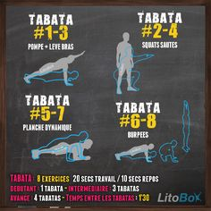 Entraînement #Tabata du 31/01 : pompes + levé de bras, squats sautés, planches dynamiques, burpees http://www.litobox.com/wod-31-01-2014                                                                                                                                                                                 Plus