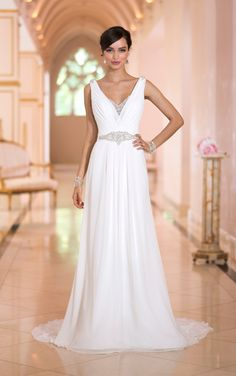 Stella York Chiffon wedding dress (Style 5876)