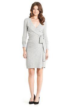 WOOL Sweater Dress - must make this ASAP! Linda Sweater Dress In Grey Melange