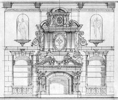 beaux arts classical baroque fireplace treatment
