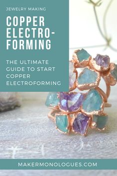 Copper Electroforming Starter Supplies Guide - Looking into starting copper electroforming? This is the ultimate supplies guide so you can get the - Sea Glass Jewelry, Copper Jewelry, Wire Jewelry, Jewelry Art, Jewelry Necklaces, Gothic Jewelry, Copper Art, Copper Solder, Hardware Jewelry