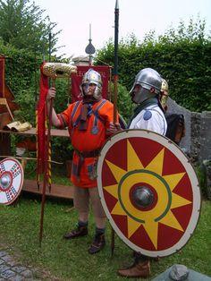 Late Roman reenactors.