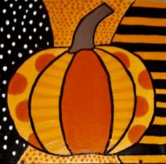 Halloween Art Projects, Halloween Arts And Crafts, Fall Art Projects, Classroom Art Projects, Fall Crafts For Kids, Art Classroom, Art For Kids, Pumpkin Canvas Painting, October Art