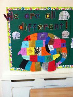 Elmer Hijab 7 rules of hijab Nursery Display Boards, Classroom Display Boards, Reception Classroom Ideas, School Display Boards, Year 1 Classroom Layout, Primary Classroom Displays, Preschool Layout, Early Years Displays, Class Displays