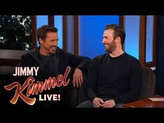 """You know..we bring the cats and the kids, and the cats they like their chair, where they take their naps... so we bring the chairs. As a matter of fact lets bring the house!"" ahaha i love RDJ!! X) Chris Evans and Robert Downey Jr. Filmed in Hotlanta - YouTube"