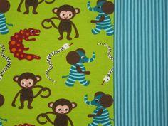 SET ZNOK Jersey Monkey LIME+Stripes blue