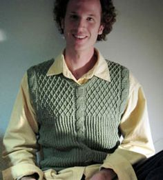 Adventuring Sage Cable Vest: Men's Crochet Sweaters - free patterns your guy will love! #crochet
